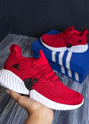 Кроссовки красные на белой подошве , кросівки