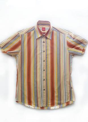 Рубашка в цветную полоску с коротким рукавом от esprit