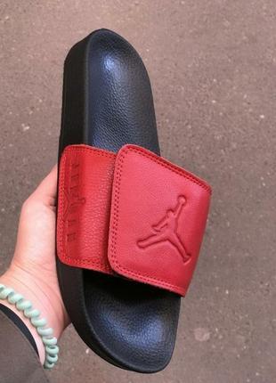 Поспешите!осталось две пары 44 и 45 размер.распродажа.кожаные мужские шлепанцы джордан