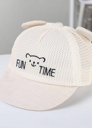 Кепка fun time беж