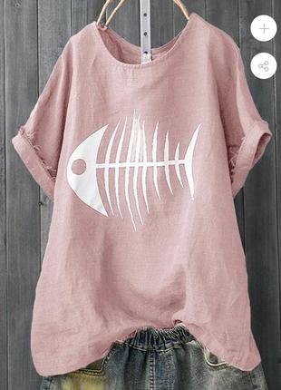 💣new💣 яркая блузка футболка с принтом рыба 😅 яркие цвета 🔥 супер цена 👑