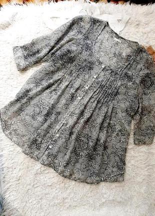 Крепдешиновая серая блузка , 3xl.