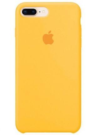 Чехол силиконовый для iphone/айфон 7/8 plus/плюс желтый