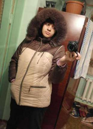 Отличная зимняя курточка пуховик ( можно и на осень и для беременных)