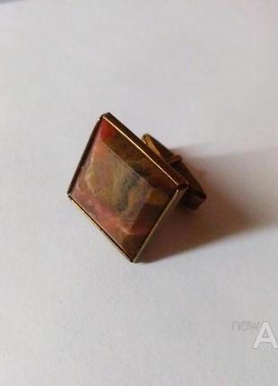 Запонка ссср серебро 875 пробы со звездой.