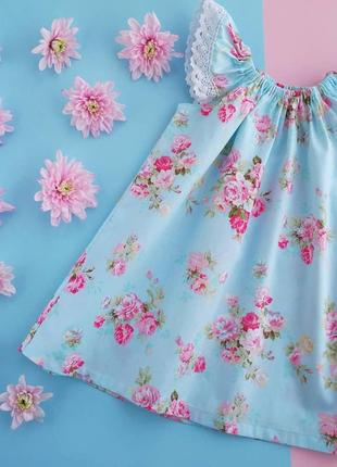 Платье сарафан летнее хлопковое с кружевами