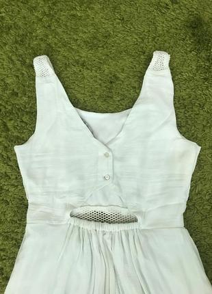 Літня сукня легкое мятное летнее платье с натуральным составом