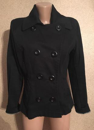 Черное классическое пальто h&m