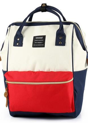 Сумка - рюкзак на коляску  красно - белый