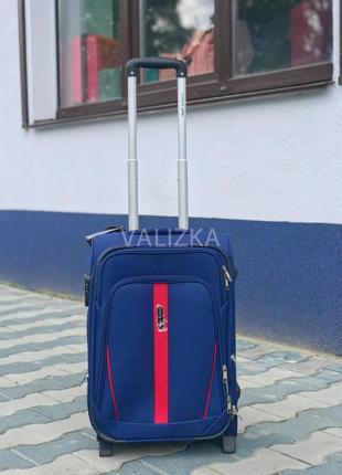 Качество! большой текстильный чемодан польша 4 колеса / велика тканева валіза