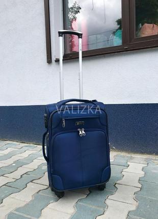 Качество! средний текстильный чемодан польша 4 колеса / тканева валіза середня