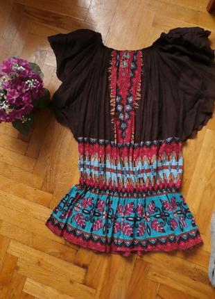 Блуза туника с вышивкой етно блуза tu состояние новой