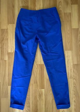 Синие штаны с высокой посадкой