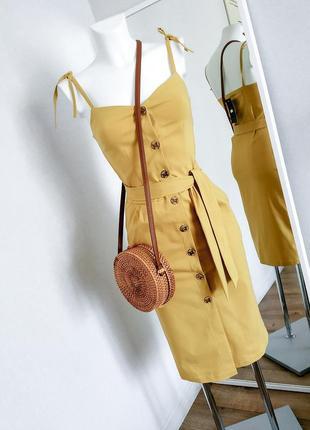 Платье на пуговицах сарафан