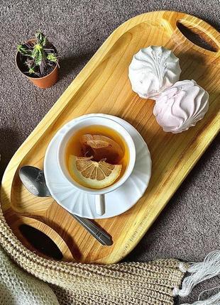 Деревянный поднос, доска для подачи закусок