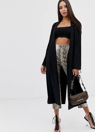Длинный лёгкий блейзер пиджак с разрезами