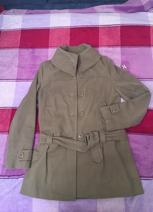 Весенне велюровое пальто