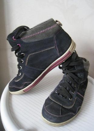 Ботинки кроссовки кеды утепленные натуральная замша