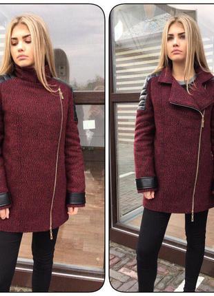 Новое пальто марсала5