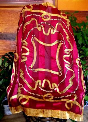 Распродажа! платок подписной бренд lucia 100% натуральный шелк