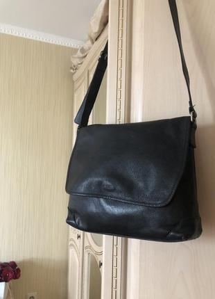 Добротная кожаная сумка кросс боди, через плечо, натуральная кожа picard