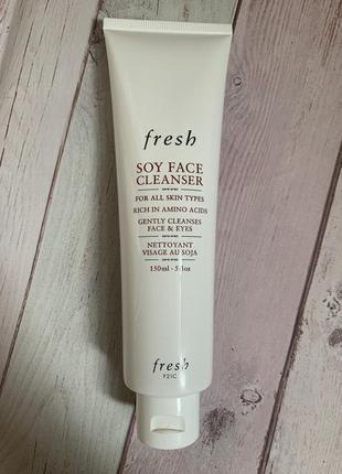 Очищающий гель для умывания и снятия макияжа fresh soy cleanser