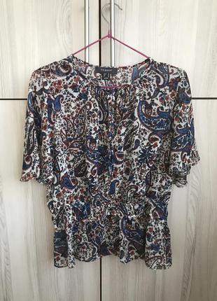 Стильная блуза топ в трендовый принт