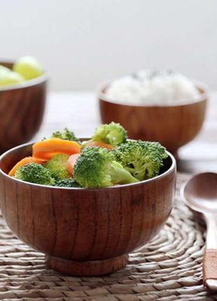 Дубовая миска для салата, риса
