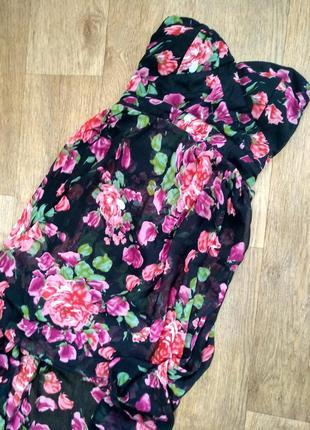 Шикарное шифоновое летнее платье