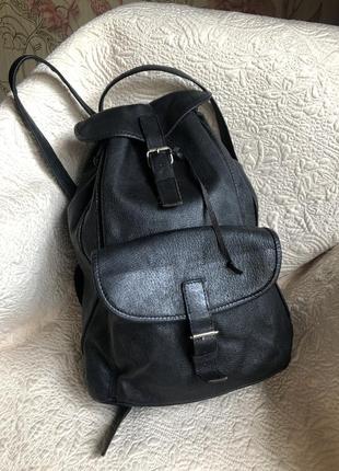 Объёмный добротный кожаный рюкзак ручной работы, натуральная кожа,