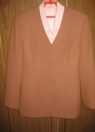 Нежно коричневый пиджак natali bolgar