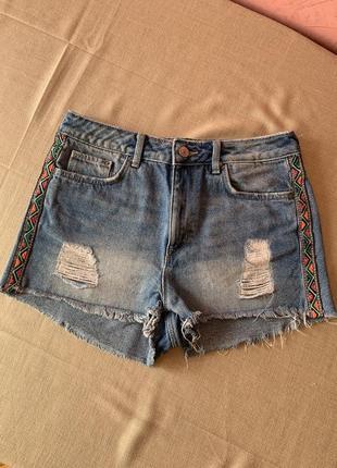 Джинсові шорти h&m джинсовые шорты
