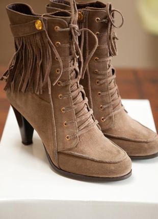 Ботиночки paolo conte 38 размер замша