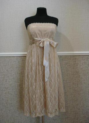 Гипюровое нарядное платье платье на выпускной