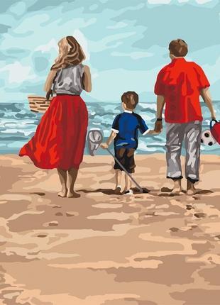 Картины по номерам идейка семейный отдых, 40*50  кно4679