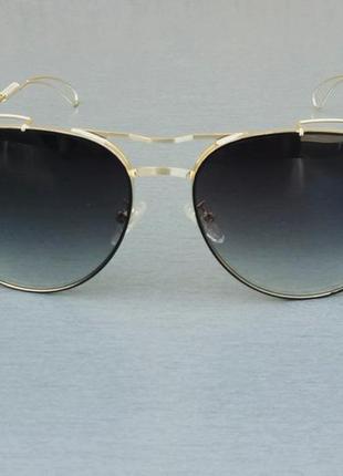Tom ford очки капли женские солнцезащитные черные в золотой металлической оправе