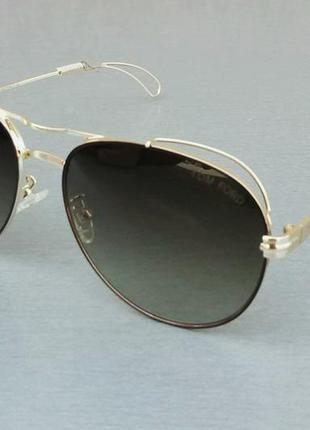 Tom ford очки капли женские солнцезащитные коричневые в золотой металлической оправе
