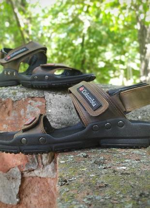 Натур.кожа. мужские сандалии kolumbia