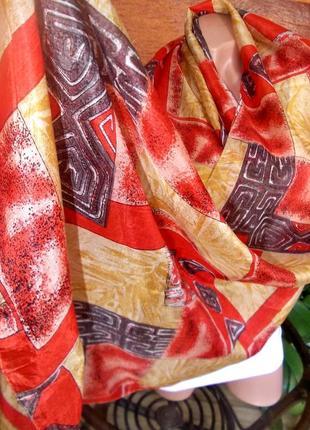 Роскошний шарф 180х50см 100% натуральный шелк