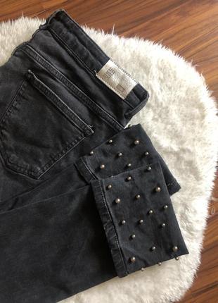 Шикарные джинсы zara с подворотом размер м