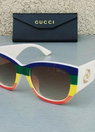 Gucci очки женские солнцезащитные модные яркие с градиентом