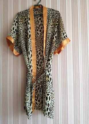 Лёгкий леопардовый халат