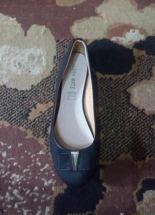 Элегантные летние балетки туфли лодочки. стелька из натуральной кожи . новые. размер 39