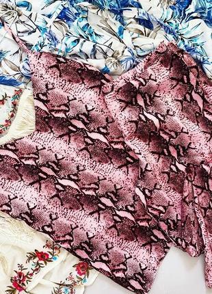 Пижамный наборчик f&f под змеиный принт  р м свободного кроя