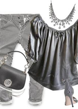 Стрейчевая атласная блуза размер 50-54