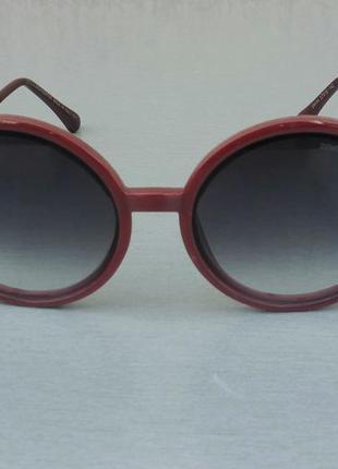 Dolce & gabbana очки женские солнцезащитные круглые бордовые с градиентом