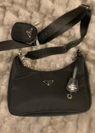 Новая сумка чёрная prada