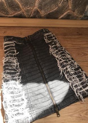 Джинсовая юбка от topshop
