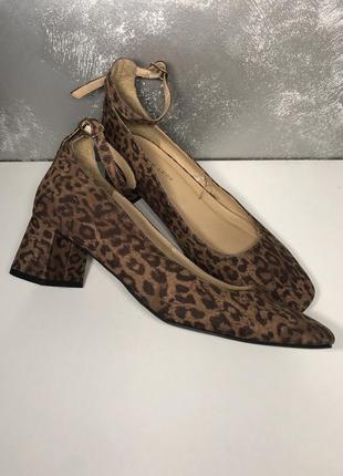 Стильні леопардові лодочки туфлі new look 39р, 24,5см