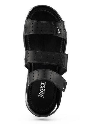 Мужские кожаные сандали nike yuves